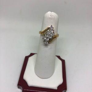 Jewelry - 18k GE cubic zirconia ring